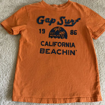 Gap Kids Boys Orange Blue California Surf Beach Short Sleeve Shirt 6-7 - $8.33