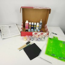 New Plaid One Stroke Acrylic Paints Simply Stencils Brushes Kit QVC  - $49.45