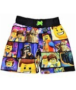 LEGO MOVIE 2 EMMETT REX UPF50+ Swim Trunks Bathing Suit Boys Size 4, 5 or 6 - $299,21 MXN