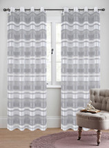 Becca Drapery Curtain Panels with Grommets image 1