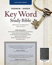 The Hebrew-Greek Key Word Study Bible: KJV Edition, Black Genuine (Key W... - $51.47