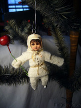 Vintage Spun Christmas Baby Boy Ornament no. CH78 image 1