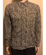 Men's Southern Thread Long Sleeve Western Shirt Pearl Snap Medium Gray S... - $26.11