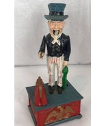 Vintage uncle Sam cast Iron mechanical Bank Taiwan - $31.35