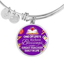 Professeur Appréciation Cadeau Acier Inoxydable Ou 18k Or Cercle Bracelet - $47.54+