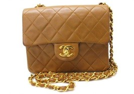 AUTHENTIC CHANEL Lambskin Leather Mini Matelass... - $1,640.00