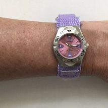 Vintage Swerve Women's Silver Purple Nylon Strap Watch Fresh Battery EXCELLENT! image 6