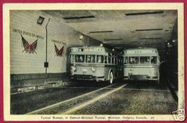 DETROIT MI WINDSOR ONTARIO Tunnel Busses 1941 - $6.00