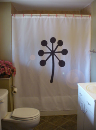 Shower Curtain stem seed burst flower plant life nature