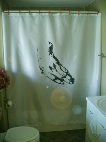 Printed Shower Curtain study of a left hand Renaissance sketch