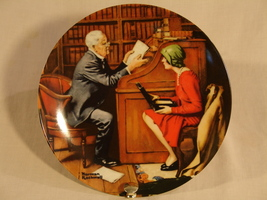 "Norman Rockwell ""The Professor"" Collector Plate - $41.00"