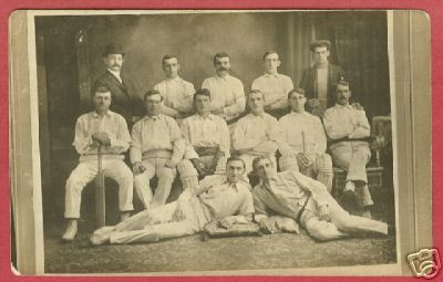 Primary image for CRICKET TEAM RPPC REAL PHOTO AZO 1904 - 1918 Sports BJs
