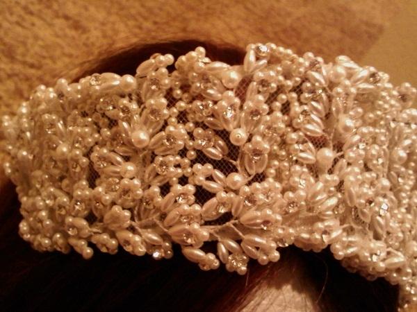 Bridal Headpiece Crystals & Pearls