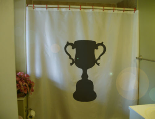 Shower Curtain trophy champion champ win spirit winner