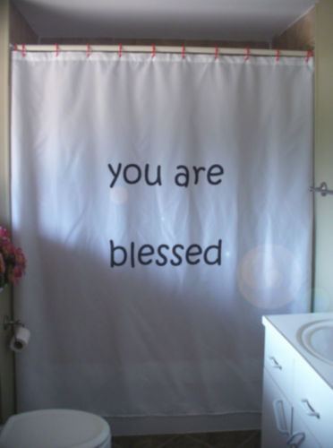 Shower Curtain you are blessed positive love inspire