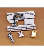 Ceramic Sewing Machine Pin Pfaff 2056 Handcrafted - $14.95