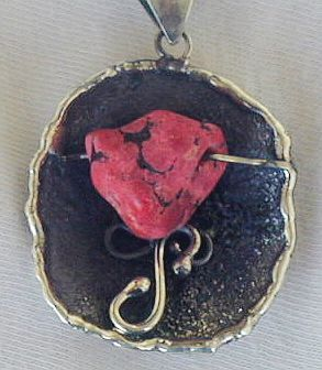 Red sea stone pendant p8