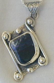 Lapis raw pendant PLS