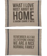 2 Sided Quote Throw Rug What I Love Most About Home Remember Nice Normal... - $19.95