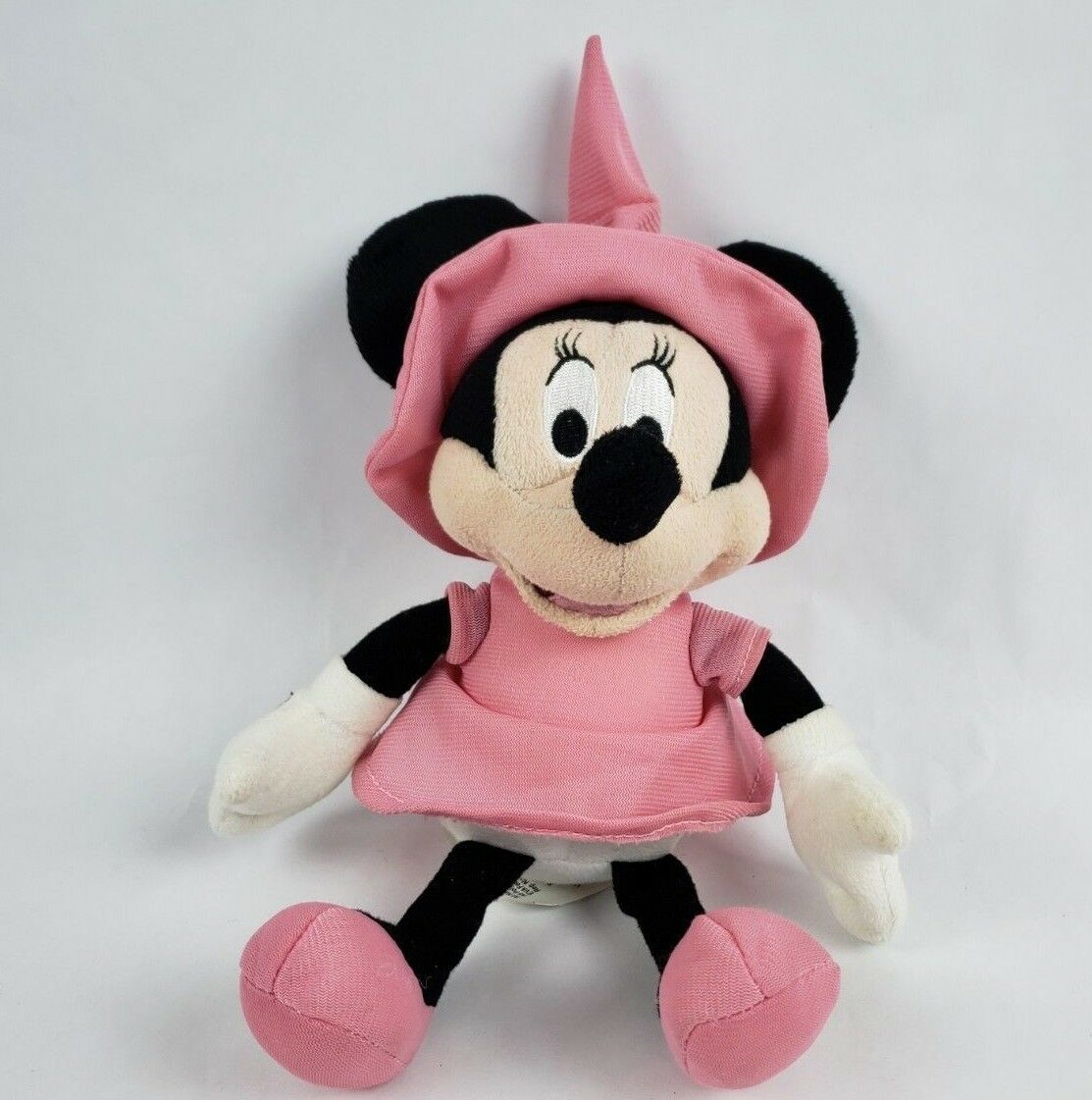 "Disney Minnie Mouse 10"" Talking Plush Witch Hat Pink Halloween Costume Toy  Doll"