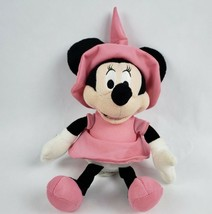 "Disney Minnie Mouse 10"" Talking Plush Witch Hat Pink Halloween Costume T... - $12.71"