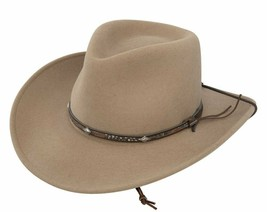 Stetson Men's Mountain View Crushable Wool Felt Hat Large Sand - $99.99