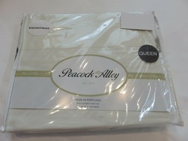 Peacock Alley 4P Queen Long Staple Cotton Sheet Set Ivory 300tc - $126.05