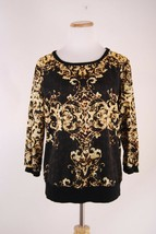 Jennifer Lopez JLo Black and Gold Top - Size M - $11.63