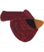 Large Mr. Cardinal 1193L handmade clay button .... - $1.60