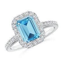 Aquamarine Rectangular Shape Engagement Ring Pure 925 Silver White Gold ... - $78.99