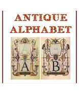 Renaissance Style Antique Alphabet Digital Collage 26 Images - $1.75