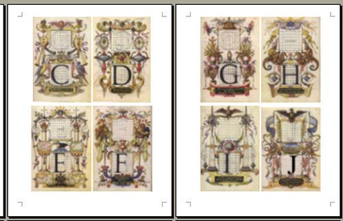 Renaissance Style Antique Alphabet Digital Collage 26 Images