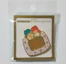 Little Twin Stars Character Pin Badge Super Rare SANRIO 1997 Retro - $26.18