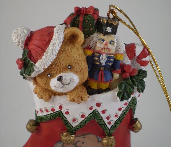Christmas stocking ornament/photo frame