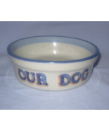 OUR DOG food dish M. A. Hadley Stoneware Potter... - £17.12 GBP