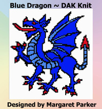 Blue Dragon Machine Knit DAK ePattern - $1.80