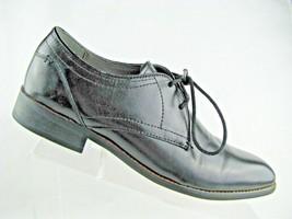 STEVE MADDEN Lancaster Men Plain-Toe Oxfords Size 8 Black Leather - $34.60