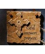 God Answers Prayers Plaque by United Design CJ0635 - $4.50