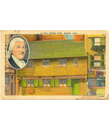 The Paul Revere Home Newton Mass Vintage 1950 Post Card  - $2.00