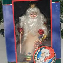 Kurt Adler Scandinavian Santa Claus Christmas Ornament blown glass  - $45.54