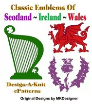 Scotland - Ireland - Wales HKGraphs MK DAK - 3 ePatterns - $2.40