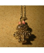 NECKLACE & PENDANT CHILDS CRYSTAL BLING RHINESTONE BUNNY RABBIT#802 - $7.99
