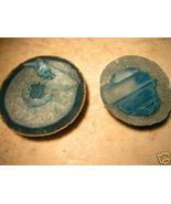 Polished Carved AGATE Slabs Paperweight drink COASTERS bz - $44.99