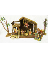 Depose Italy large nativity set stable kings animals palm trees sheep vi... - $1,750.00