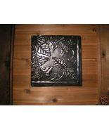 Antiqued Architectural Ceiling Tile FRAMED Wall Tin 12 by 12 BZ - $44.99