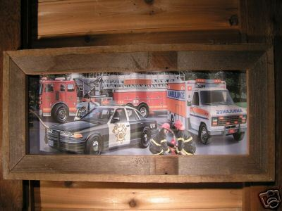 Metal Firefighting Ambulance Police Sign in Barnwood bz