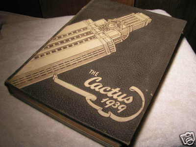 Original 1939 University of TEXAS The Cactus College Yearbook BZ
