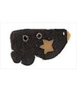 Wee Raven Birdie 1202w handmade clay button .38... - $1.40