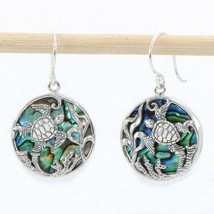 Fashion Tortoise Drop Earrings for Women 925 Silver Filled Jewelry A Pai... - $9.99