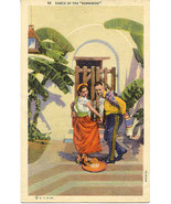 Dance of The Sombrero vintage Post Card  - $3.00